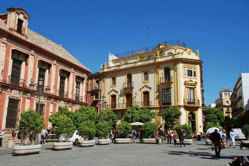 Plaza Virgen de los Reyes, Seville royalty free stock photos