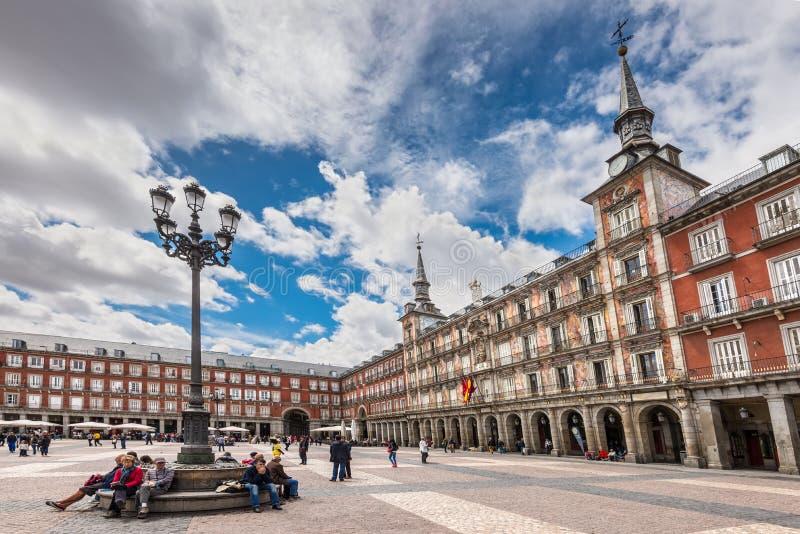 Plazaborgmästare i Madrid, Spanien arkivbild