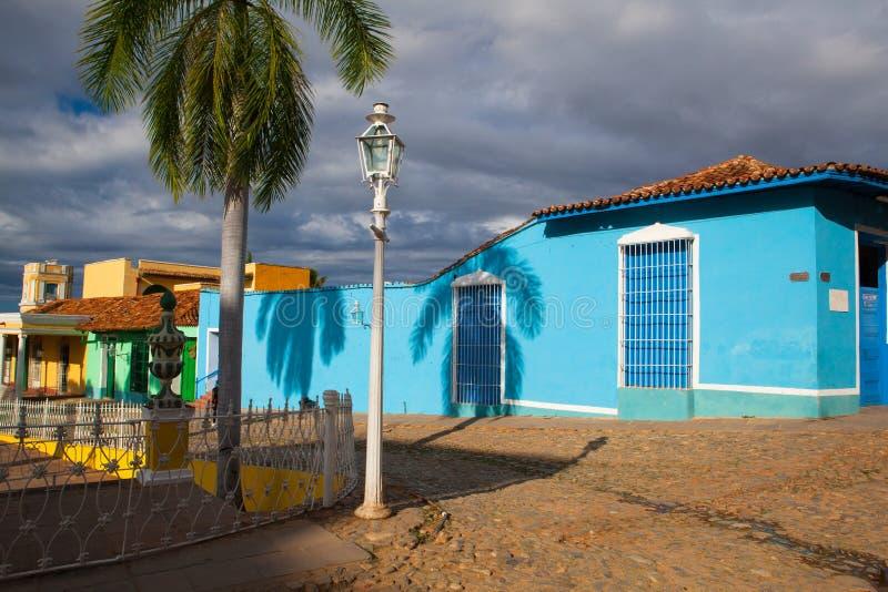 Plazaborgmästare - rektorfyrkant av Trinidad, Kuba royaltyfri foto