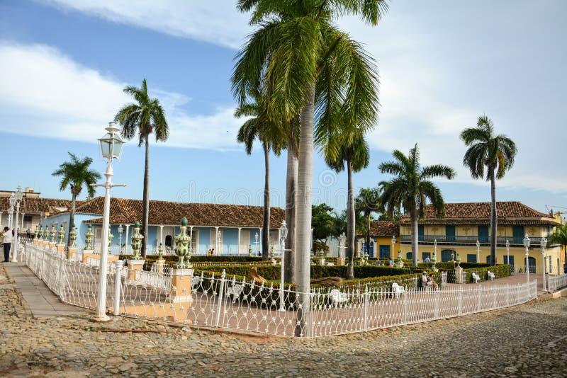 Plazaborgmästare Trinidad (den Trinidad fyrkanten) fotografering för bildbyråer