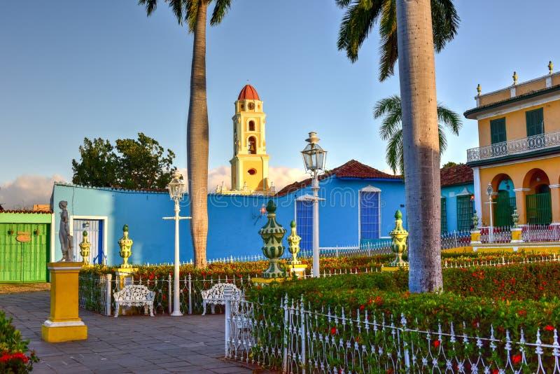 Plazaborgmästare - Trinidad, Kuba arkivfoton