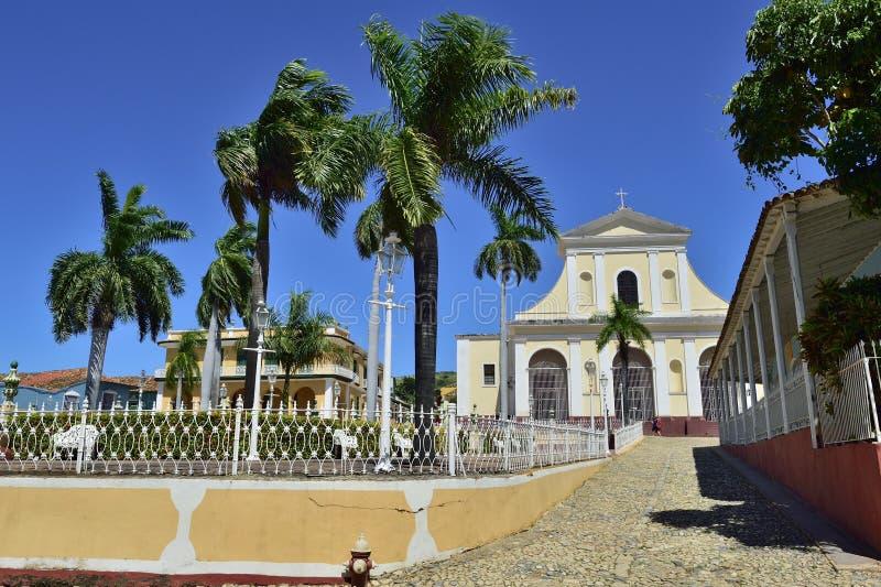 Plazaborgmästaren i Trinidad, Kuba arkivfoton