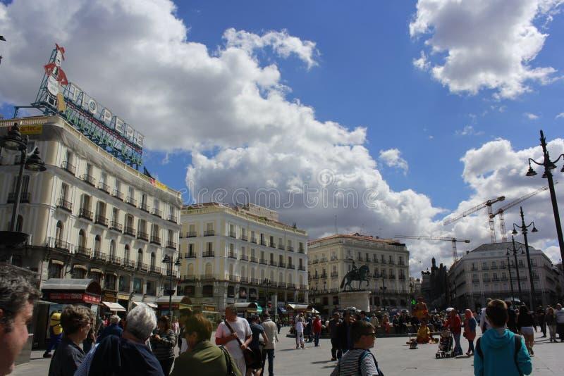 Plazadel Sol Madrid royaltyfria foton