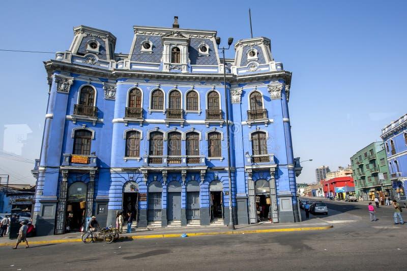 Plazaen Dos de Mayo på Lima i Peru arkivfoto