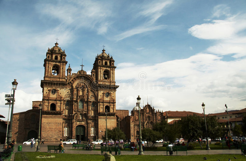 Download Plaze Of Arms In Cuzco,Peru Stock Photo - Image: 1404098