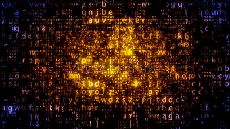 Plazma下来矩阵的信件 向量例证