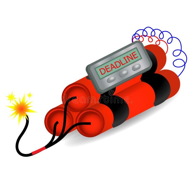 plazo Concepto del peligro de la explosión de la bomba de relojería libre illustration
