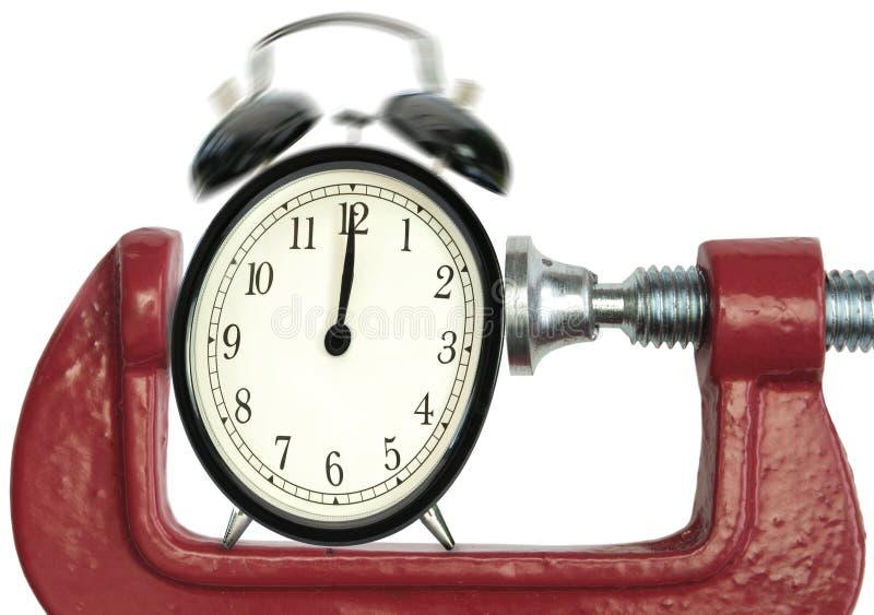 Plazo de la presión de tiempo foto de archivo
