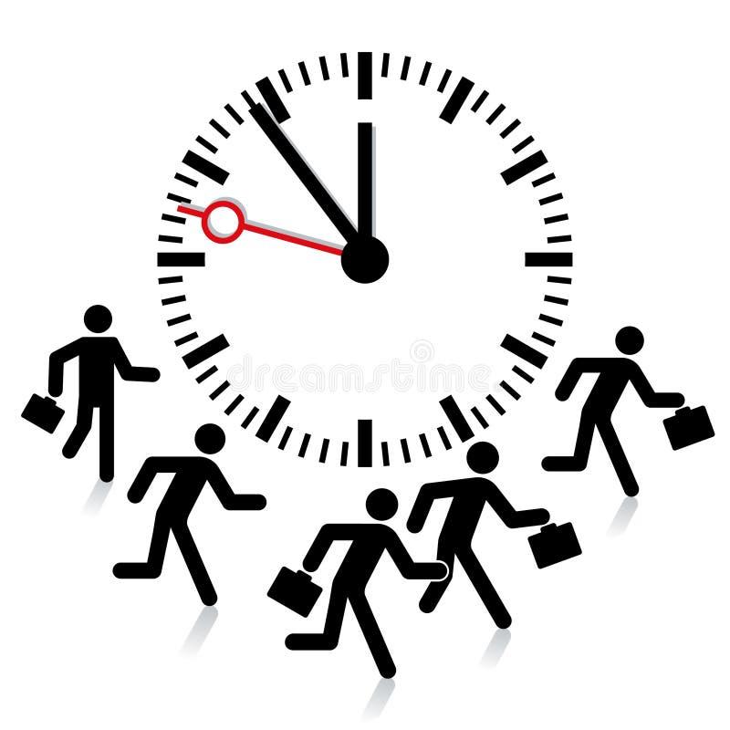 Plazo, límite de tiempo ilustración del vector