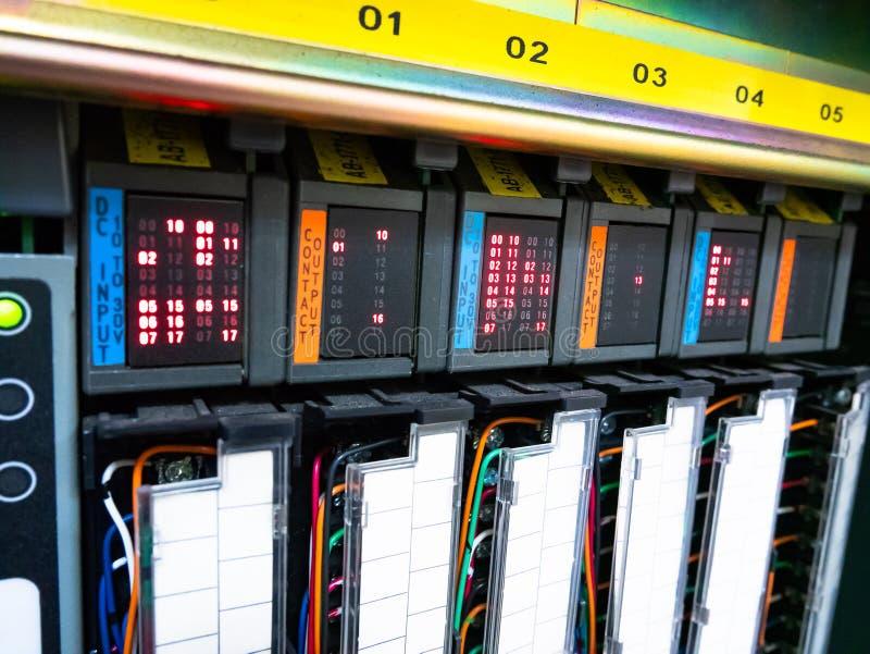 Plc以状态LED 免版税库存照片