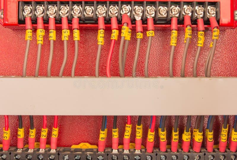 PLC del cableado imagen de archivo libre de regalías