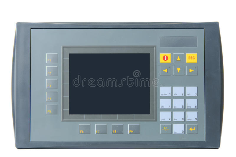 PLC industrial com o painel de operador interno