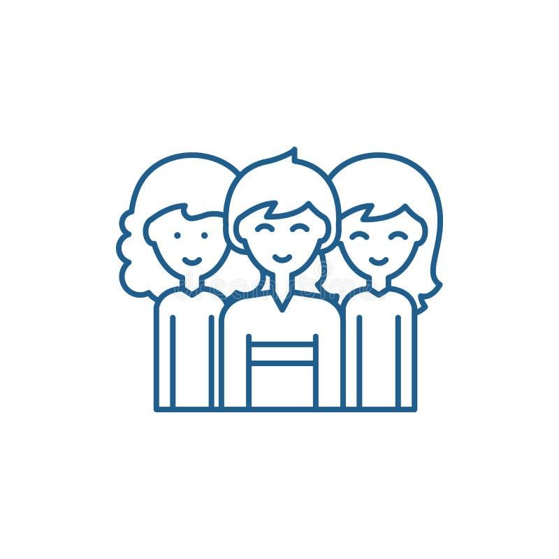 Plciowej równości linii ikony pojęcie Plciowej równości płaski wektorowy symbol, znak, kontur ilustracja royalty ilustracja
