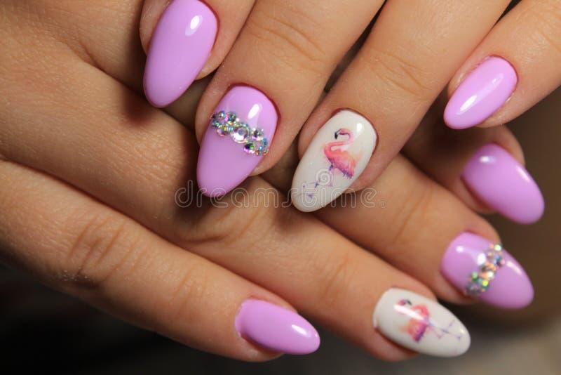 Plciowy menchia manicure zdjęcia stock