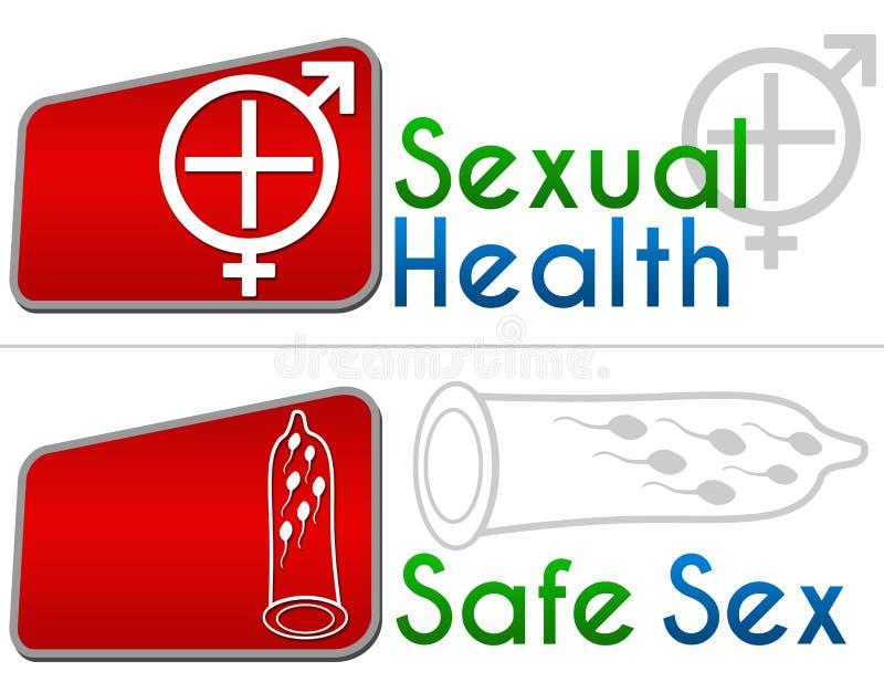 Plciowy zdrowie bezpieczny seks ilustracji