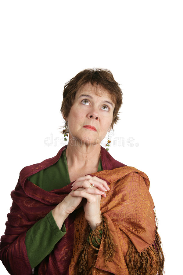 Pleading with God stock photo