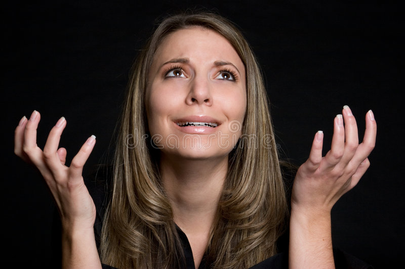 Pleading Woman royalty free stock photography