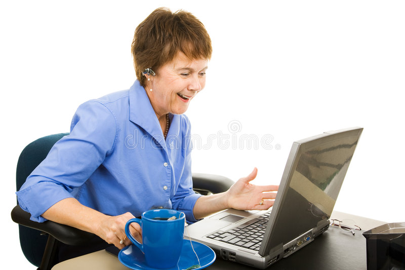 Pleasant Online Chat stock photo
