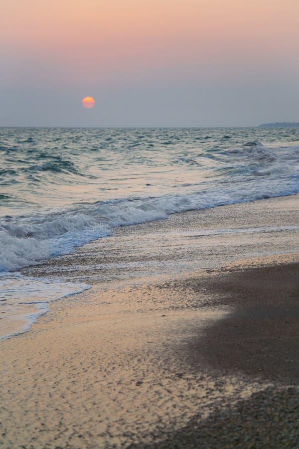 Pleasant sunset stock photos