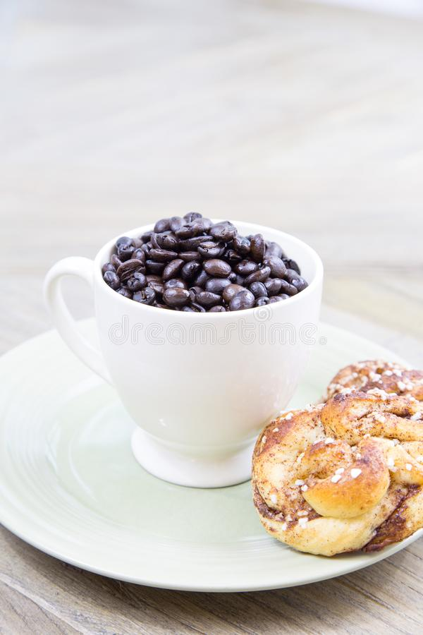 Please can I get a cup of coffee royalty free stock photo