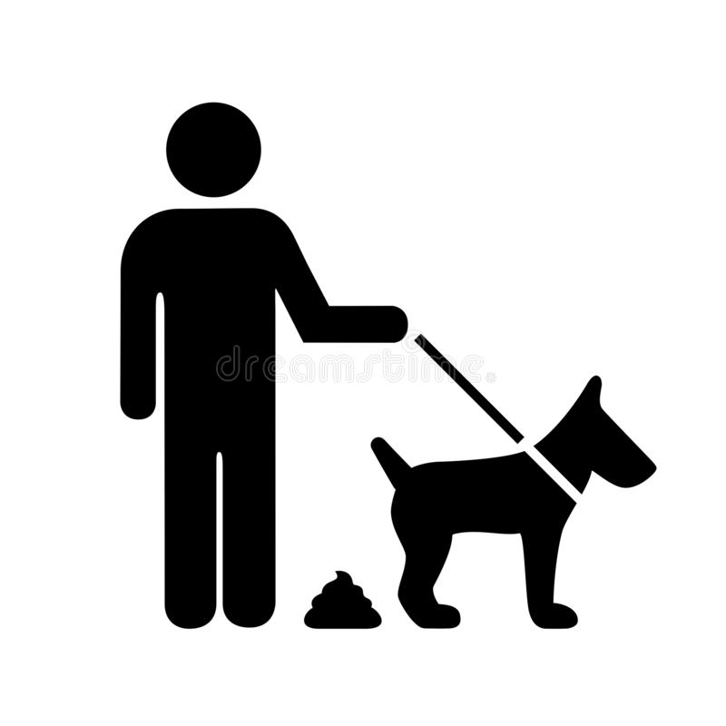 Please clean up after your dog sign royalty free illustration