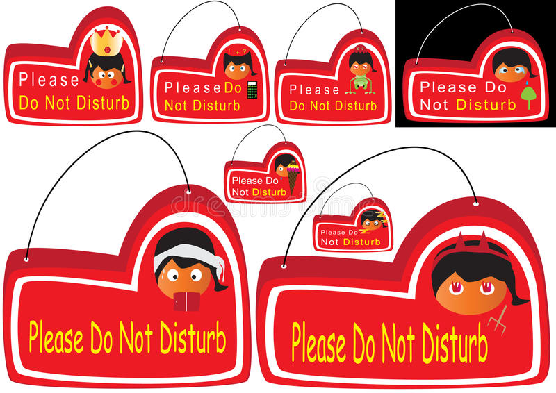 Download Please Do Not Disturb_eps stock vector. Illustration of hook - 15668827