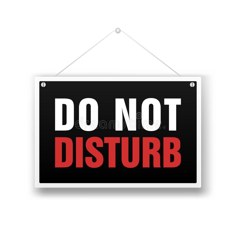 Please do not disturb, sign hanging on the white background. vector illustration