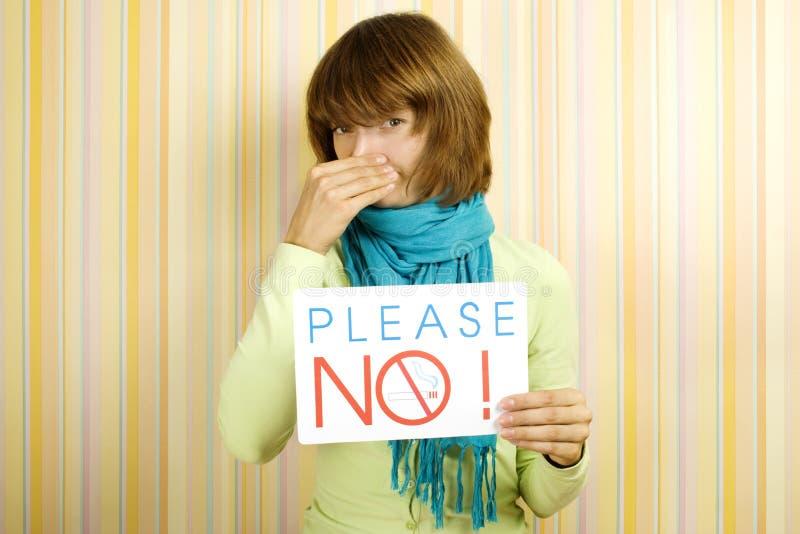 Please do not smoke royalty free stock image
