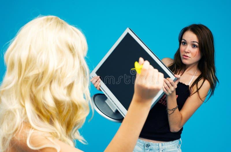 Please don't throw that. stock image