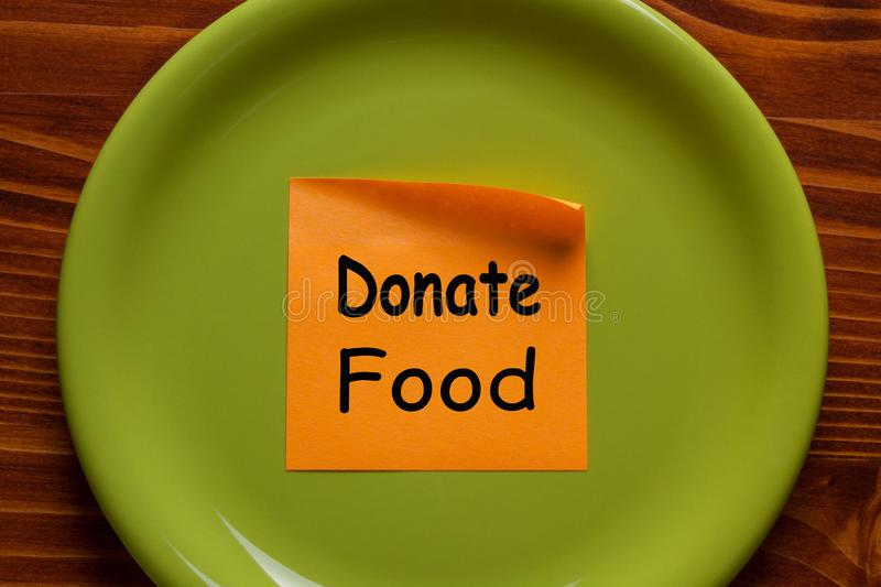 Please Donate Food royalty free stock images