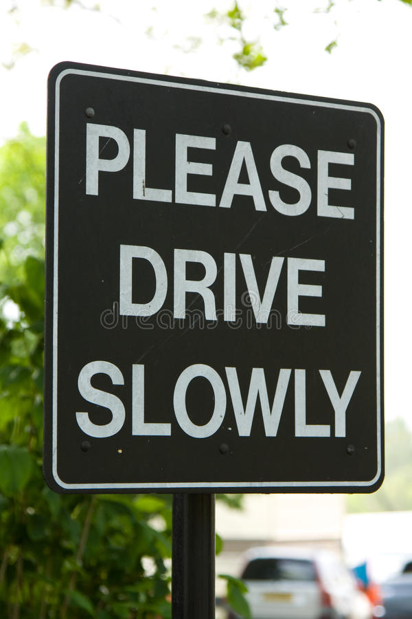 Free Please Drive Slowly Sign Stock Images - 19315244