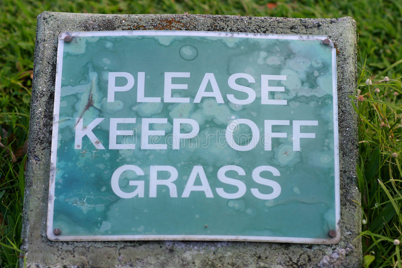 Download Please Keep Off Grass Sign stock photo. Image of humorous - 1670