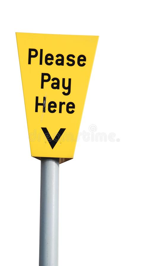 Please pay here stock image