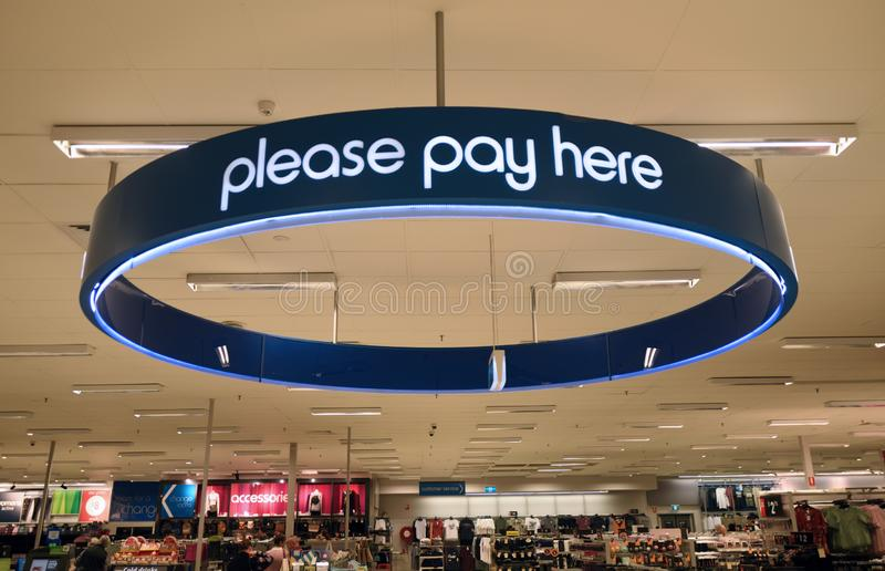 Please pay here royalty free stock image