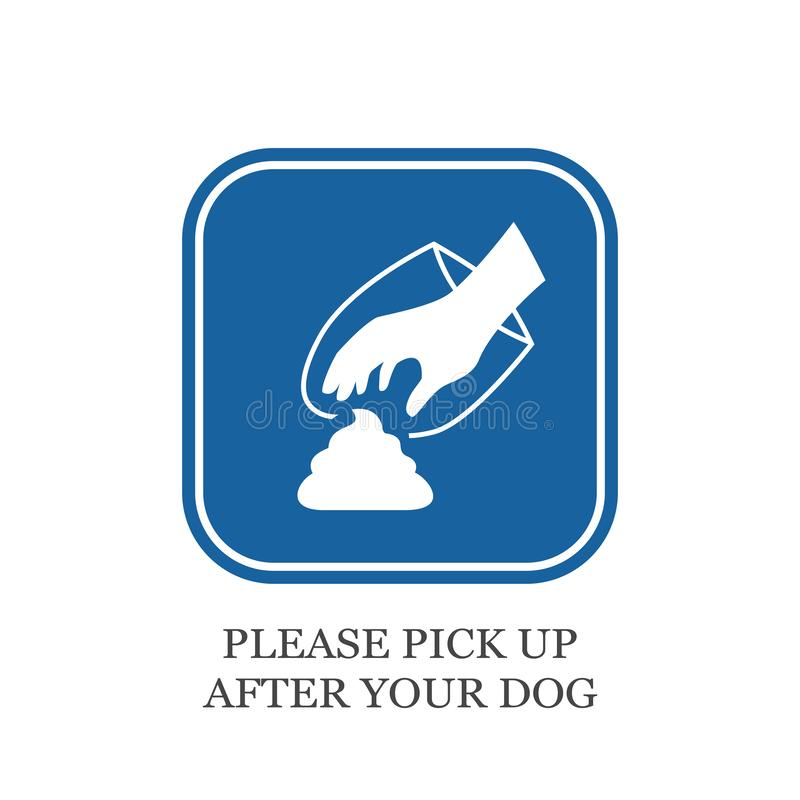 Please pick up after your dog vector sign stock illustration