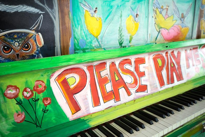 Please Play Me Piano royalty free stock photo