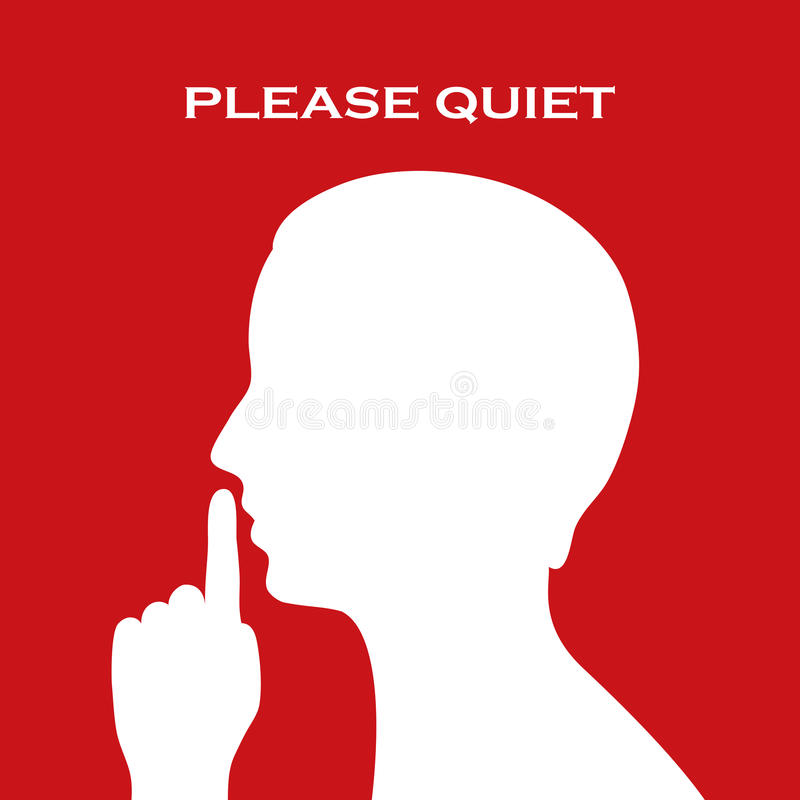 Please quiet sign royalty free illustration
