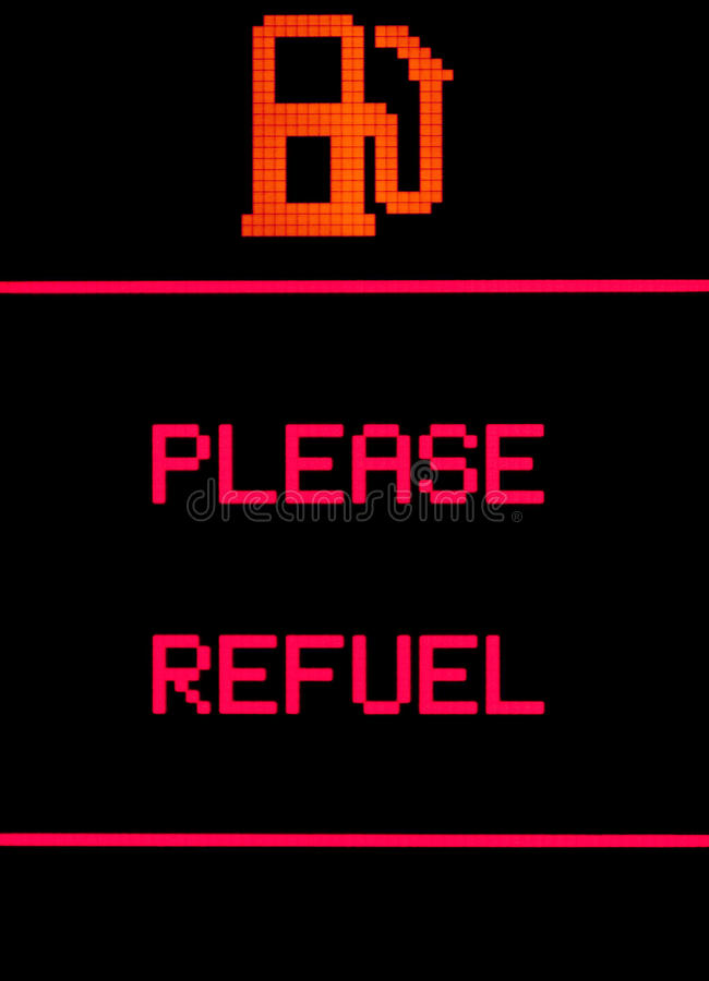 Please refuel royalty free stock photography