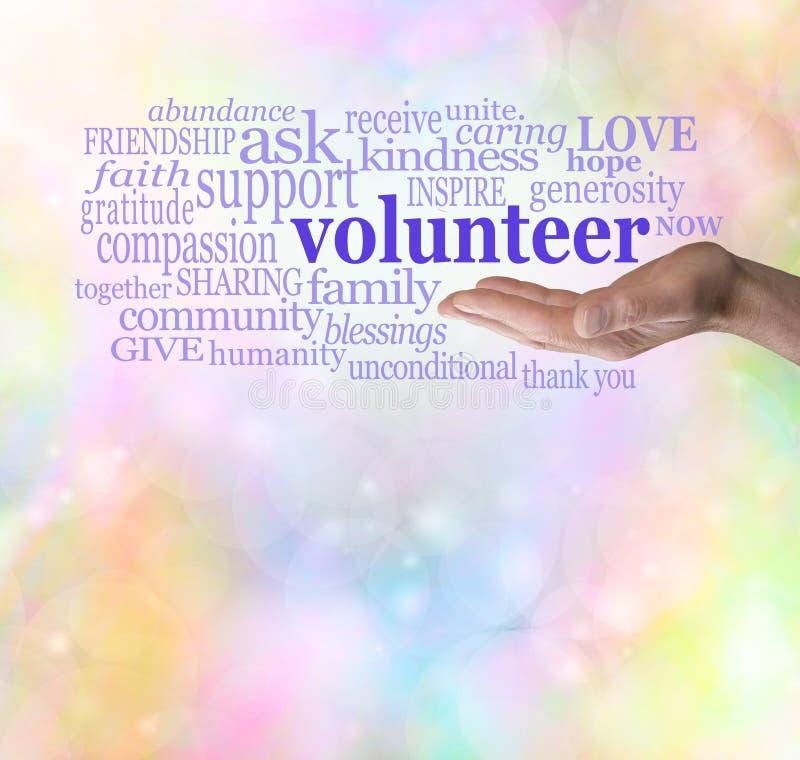 Please volunteer bokeh background royalty free stock image