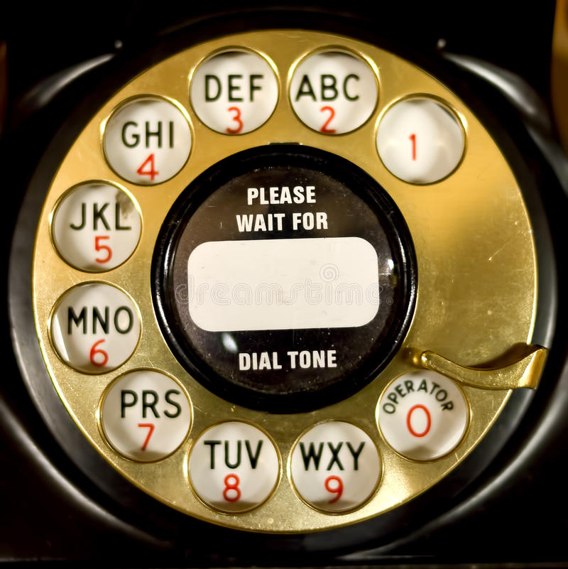 Download Please Wait for Dial Tone stock image. Image of rotary - 20505247