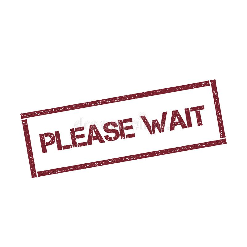 Please wait rectangular stamp. royalty free illustration