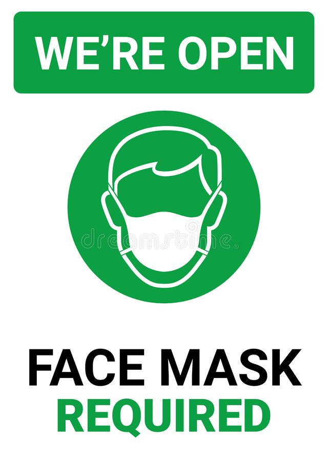 Free Please Wear A Face Mask And Keep Your Distance To Protect From Covid-19 Royalty Free Stock Photo - 182140835