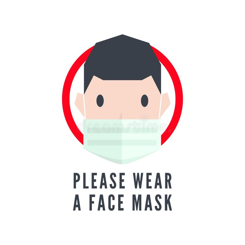 Free Please Wear A Face Mask Sign. Stock Images - 177405164