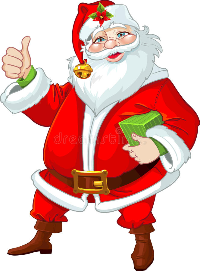 Pleased Santa Claus royalty free stock photography