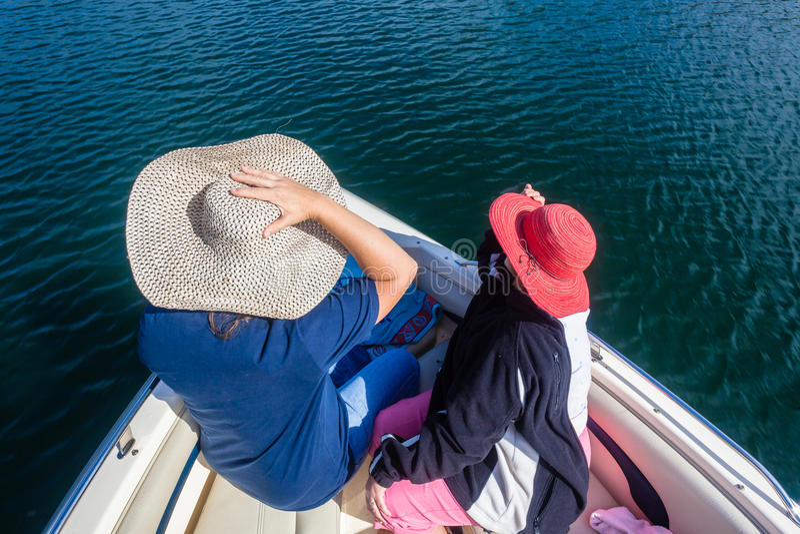 Pleasure Boat Hats Ladies Waters royalty free stock image