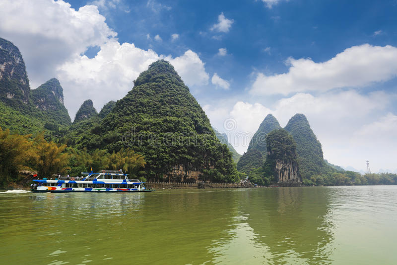 Pleasure boat in lijiang river