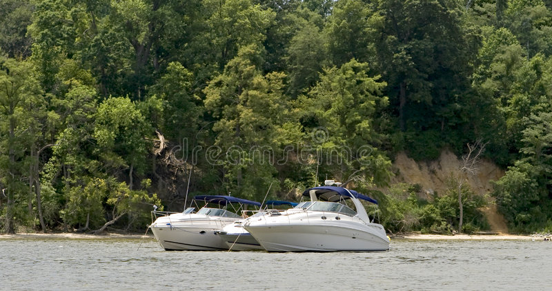 Pleasure boats royalty free stock photography