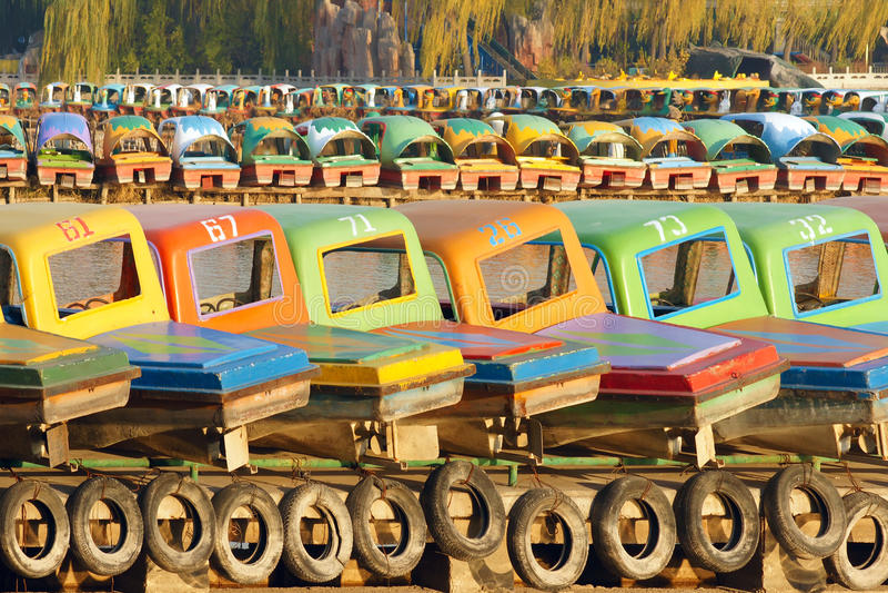 Download Pleasure boats stock image. Image of pier, arrange, gaily - 35135125