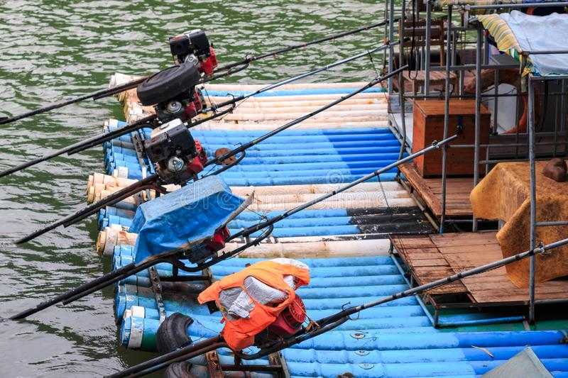 Pleasure boats on the Li River. Known as Lijiang River royalty free stock photography