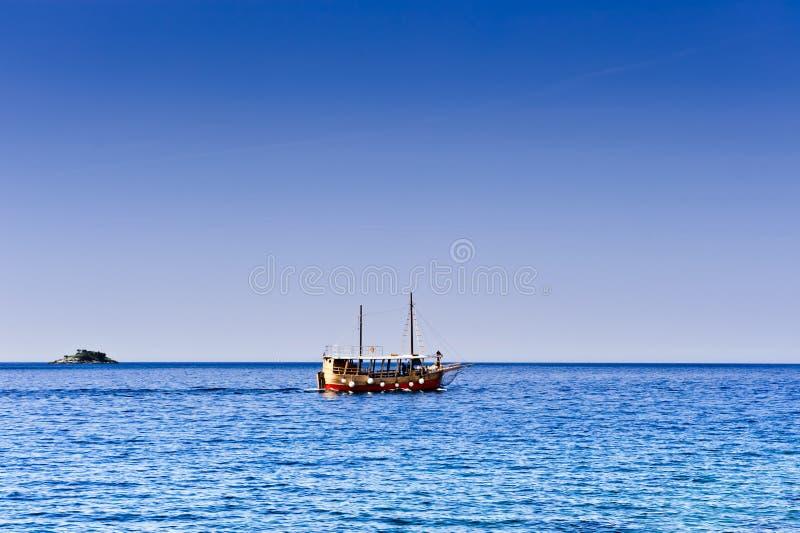 Download Pleasure Craft Boat In Adriatic Sea Stock Image - Image: 14809841